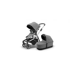 Детская коляска Thule Sleek Grey Melange+ люлька